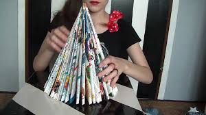 christmas tree s diy from old magazines youtube