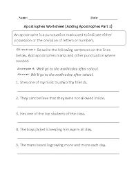 englishlinx com apostrophes worksheets