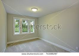 soft colors empty room vaulted ceiling stock photo 174949010