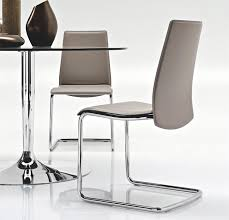 White Leather Dining Chairs Modern Beautiful Contemporary Calligaris Swing Leather Dining Chair In