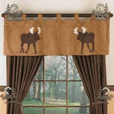 Cabin Style Curtains Moose And Decor Log Home Decorating Log Cabin Décor Log