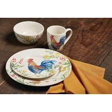 paula deen dinnerware garden rooster 16 stoneware dinnerware
