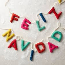 felt message garland feliz navidad west elm uk