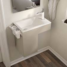 wall hung washbasin cabinet laminate contemporary with