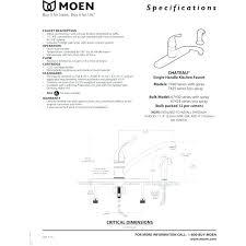 repair moen single handle kitchen faucet moen single handle kitchen faucet repair diagram bloomingcactus me