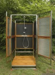 modern makeover and decorations ideas outdoor showers uniform