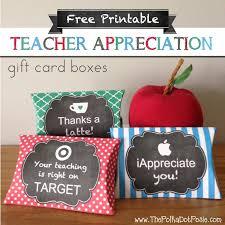 the polka dot posie free printable teacher appreciation gift card