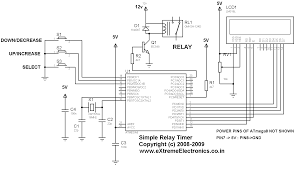 avr project relay timer with atmega8 avr mcu extreme electronics