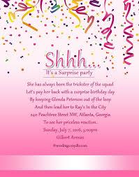 Birthday Invitation Words Surprise Birthday Invitation Wording Badbrya Com