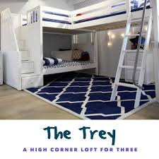 three bunk beds a sleek sturdy triple bunk bed meet the trey maxtrix