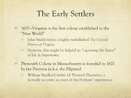 history of plymouth plantation by william bradford from of plymouth plantation by william bradford ppt