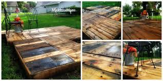 How To Build Pallet Patio Furniture by Minettesmaze Diy Pallet Deck