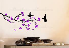 Flowering Branches With Hummingbirds Wall Decal
