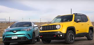 jeep toyota toyota c hr races jeep renegade but does anybody care which is