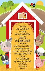 party invitation templates farm birthday party invitations