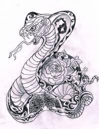 king cobra drawing tattoo