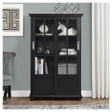 Small Bookcase With Doors Threshold Carson 5 Shelf Bookcase With Doors 103 Target 125
