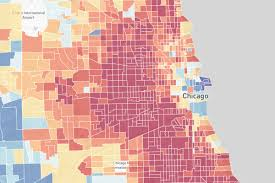 City Map Of Chicago by Many Of Chicago U0027s Neighborhoods Have A High Risk Of Exposure To