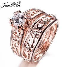 wedding sets on sale junxin new sale men women ring set gold filled wedding