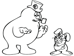 frosty the snowman coloring pages for free and karen to print