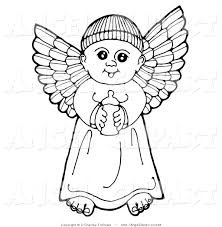 clip art of a black and white pen and ink drawing of a happy