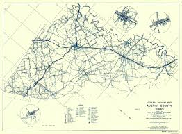 Austin Zip Codes Map by Old County Map Austin Texas Highway Highway Dept 1936