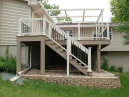Pergola And Decking Designs by Exterior Design Tan Azek Decking And White Railing Plus White