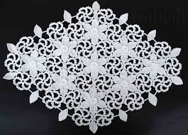 new crocheted white tablecloth for home decor handmade large doily
