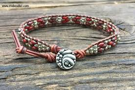 red wrap bracelet images Southwest leather wrap bracelet kit superduo 2 hole glass beads jpg