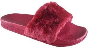 flip flop womens flats fur slip on comfy flip flop slider slippers