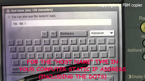 cs how to create ftp scan account on canon ir series copy machine