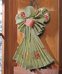 kitchen towel craft ideas kitchen linen angel uniquely handmade lovely kitchen decoration or