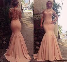 online get cheap peach mermaid dresses aliexpress com alibaba group