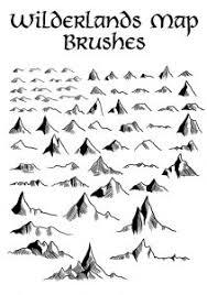 sketches mountain brushes free photoshop brushes at brushez