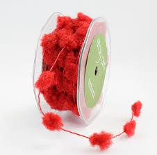 10 yards fuzzy pom poms wired ribbon may arts wholesale ribbon