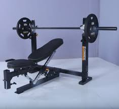 Bench Press Safety Stands Powertec Fitness Workbench Olympic Bench Wb Ob15