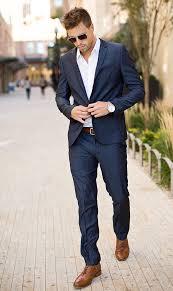 essential men u0027s style inspiration navy suit brown shoes zine