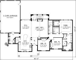 house plans with garage on side bungalow house plan 3 bedrooms 2 bath 2345 sq ft plan 7 1116
