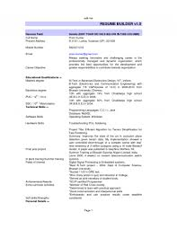 Best Resume Usa by Sample Resume For Freshers Electronics And Communication Engineers