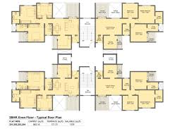 3 Bhk Apartment Floor Plan by Neelanchal