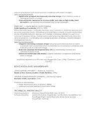 Public Relations Resumes Sample Public Relations Resume Managed Resources To 2 Reduce