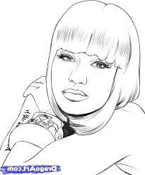 enjoyable design ideas nicki minaj coloring pages 15 hip hop rap
