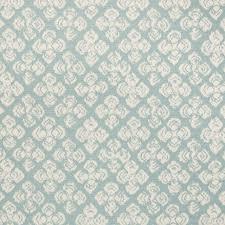 Diamond Upholstery Light Blue Blue Geometric Floral Diamond Cotton Woven Upholstery