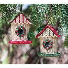 maxim birdhouse ornaments cover plastic canvas kit
