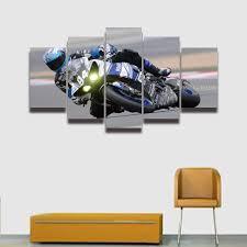 posters for home decor online shop 5 panel hd prints canvas picture race moto sports