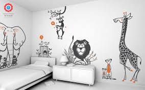 stickers savane chambre bébé stickers enfants savane avec girafe singe pour une déco