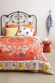 Coral Colored Comforters Embroidered Coral Pink Quilt