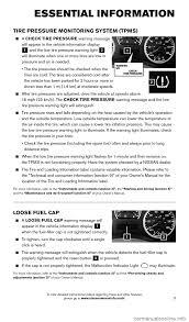 nissan versa yellow warning light nissan armada 2015 1 g quick reference guide
