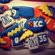 okc thunder cookies oklahoma pinterest cookie decorating