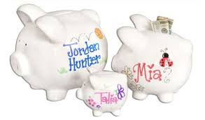 personalized silver piggy bank personalized piggy banks